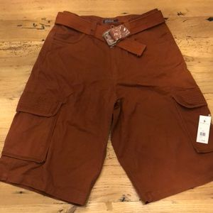 Polo Extra Long Men's Cargo Shorts With Belt 34